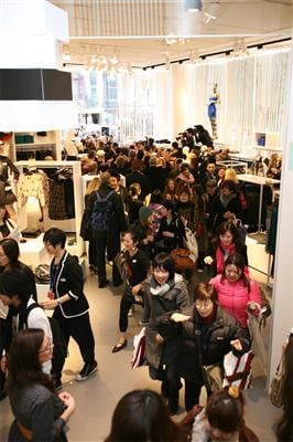 Comme des Garcons for H and M Launches in Tokyo