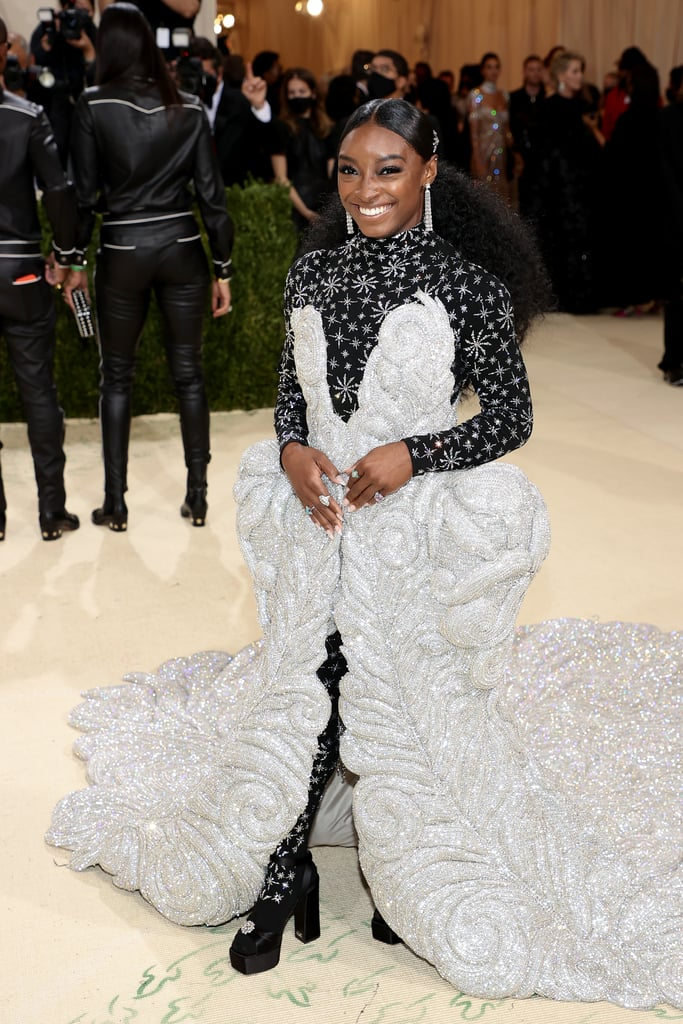 Simone Biles Wears 88-Pound Dress to the 2021 Met Gala