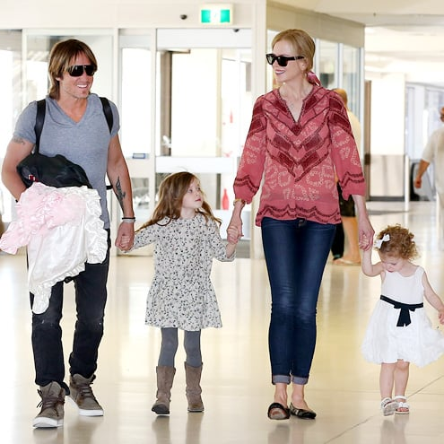 Keith Urban, Nicole Kidman and their daughters Sunday Rose and Faith