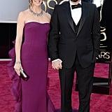 Jennifer Garner and Ben Affleck on the red carpet at the Oscars 2013.