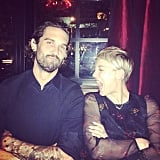 Kaley Cuoco gave a holiday shout-out to her husband, Ryan Sweeting.