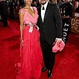 Zoe Saldana and Marco Perego at the 2017 Golden Globes