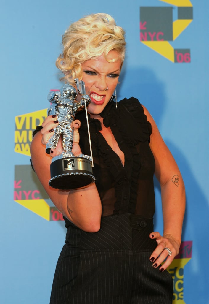 "2006: Pink won the best pop video award for ""Stupid Girls."""
