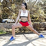 6. Search for fitness videos on YouTube. YouTube channels Blogilates, BeFit, and POPSUGAR Fitness let you work out in the comfort of your own home. Without spending any money, you can exercise alongside top-notch trainers Jillian Michaels, Kym Johnson, and Denise Austin on BeFit. If you crave a more scenic workout, Tone It Up will make you feel like you're at the beach. Invite friends over for a group workout, and then reward yourselves with sweet post-workout snacks that replenish energy and rebuild muscles.  7. Check out fitness websites with free trials. Pilatesology and YogaGlo offer free 10- to 15-day free trials. You can stream the classes online, which is perfect for those who are always on the go or hate the gym. The virtual classes allow you to work out anywhere, anytime.  8. Attend local free fitness events. Facebook is surprisingly a great place to find free fitness events — outdoor yoga, anyone? — in your area. Go to your events tab and scroll down to Events Popular in Your Network and Popular Events Nearby. You can even check out which events your friends will be attending.  9. Search Groupon and LivingSocial for gym deals. No need to splurge on an expensive gym membership. Groupon and LivingSocial offer the most comprehensive discounts for all your fitness needs, from CrossFit to Zumba to personal trainers.  10. Play sports at public courts. Take advantage of free outdoor basketball or tennis courts in the summertime. Organize a game among a group of friends, or head to the courts yourself to meet new people.  11. Walk dogs for adoption shelters. It's not even exercise if you get to play with a fluffy puppy, right? Most shelters are in need of volunteers to walk their dogs, and places like the ASPCA only require eight hours per month as a time commitment.