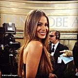 Sofia Vergara shared a photo while getting interviewed. Source: Sofia Vergara on WhoSay