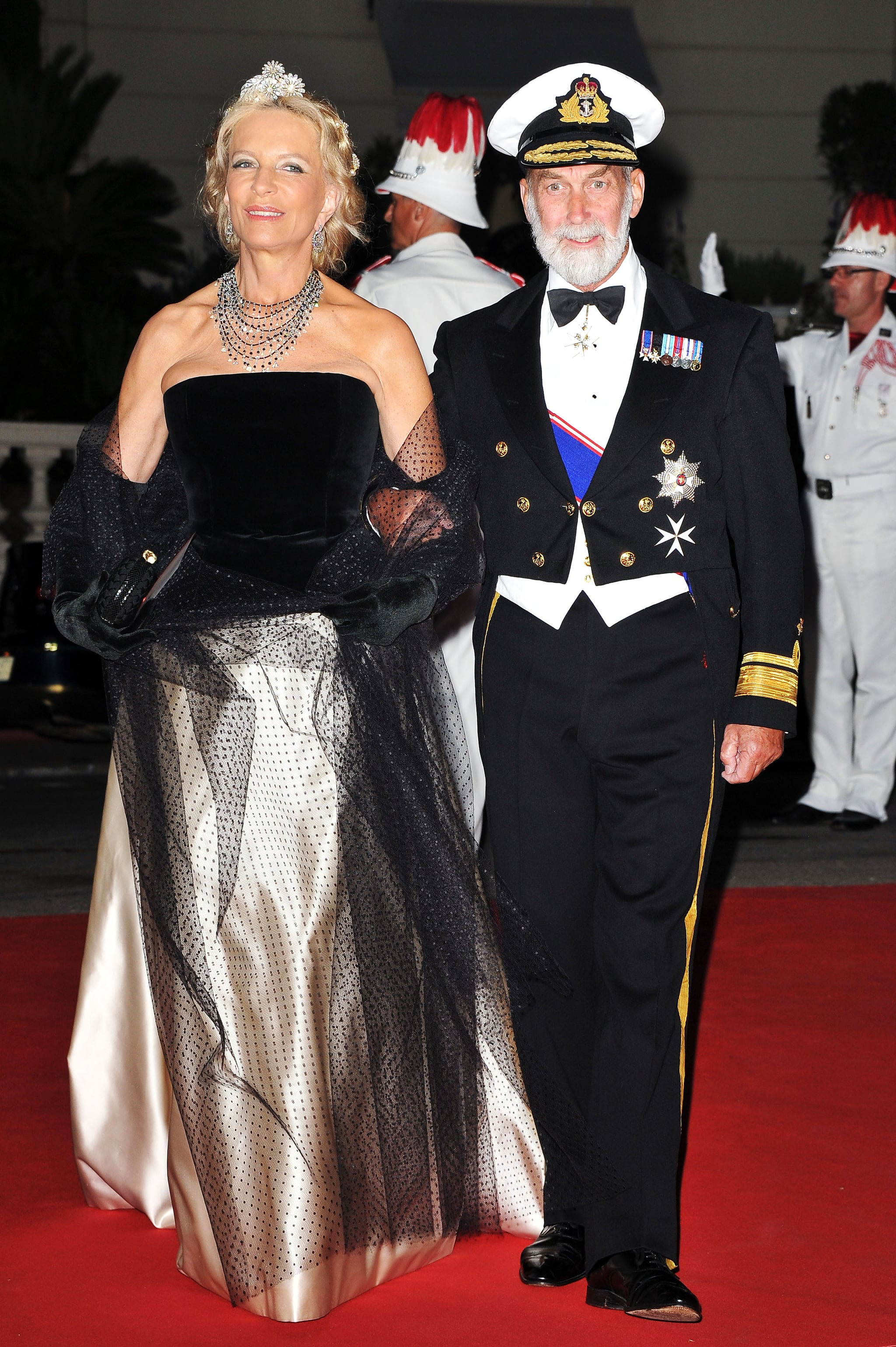 Princess and Prince Michael of Kent attended a dinner at Opera terraces after the religious wedding ceremony of Prince Albert II of Monaco and Princess Charlene of Monaco.