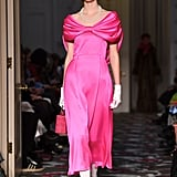 A Hot-Pink Dress From the Shrimps Fall 2020 Runway at London Fashion Week