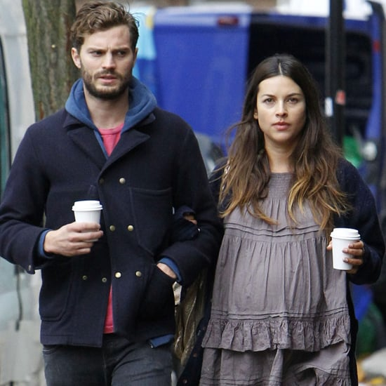 Jamie Dornan and His Wife Doing Errands in London