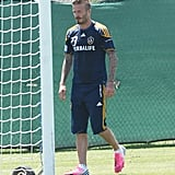 David Beckham was back to work.