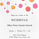 Suspended Circles Wedding Invitation