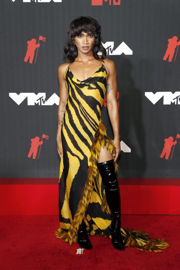 Bretman Rock Wearing Vintage Roberto Cavalli at the 2021 MTV VMAs