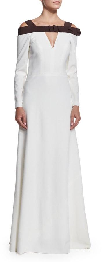 Carolina Herrera Cold-Shoulder Two-Tone Gown ($3,990)