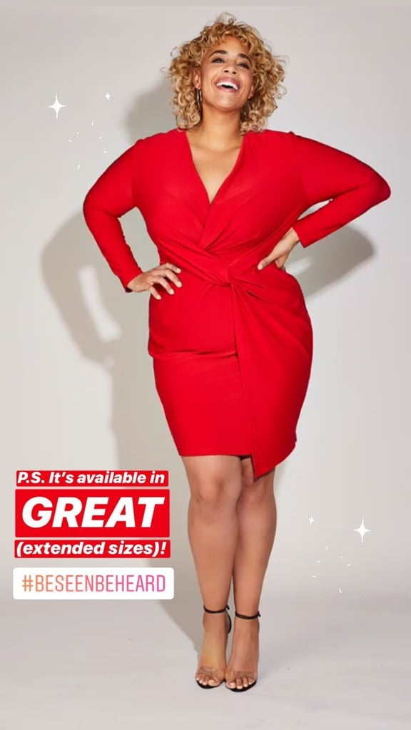 Serena Williams Body Positive Twist Front Dress