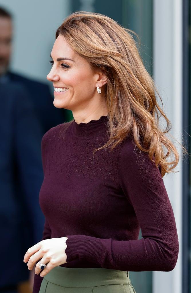 Kate Middleton's Long Curtain Fringe, 2019