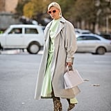 Pair a Sorbet-Hued Dress With Knee-High Animal-Print Boots