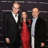 Demi Moore posed with co-stars Paul Bettany and Kevin Spacey in NYC.