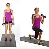 Forward Lunge With Bicep Curl