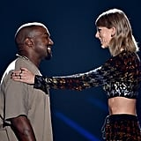 Perhaps one of the most memorable moments from Taylor's VMAs past was when she and Kanye hugged it out on stage, and Taylor even presented the rapper with the coveted Video Vanguard Award.