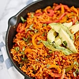 "Vegan Fajitas With Spiralized Sweet Potato ""Rice"""