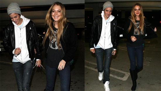 Photos of Lindsay Lohan and Samantha Ronson Going to a Movie Theater in LA
