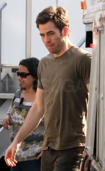 Pictures of Chris Pine Shooting Welcome to People