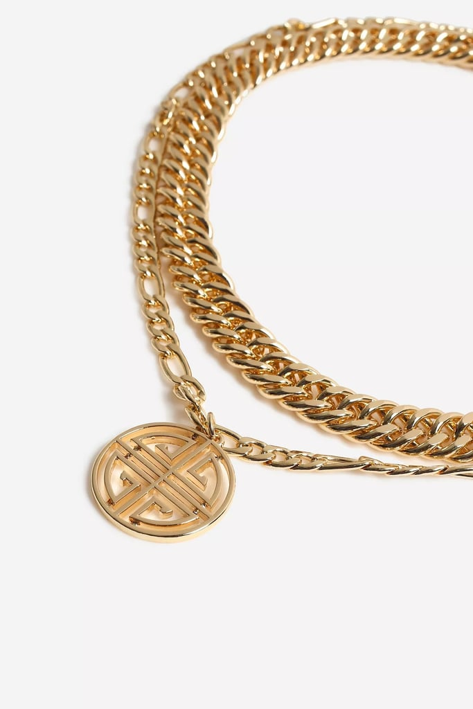 Topshop Chunky Engraved Disc Necklace