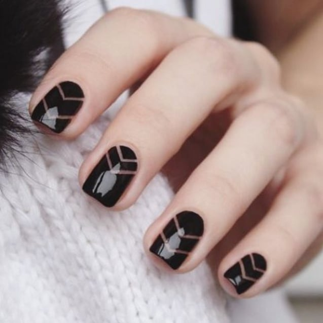 black manicure ideas popsugar beauty
