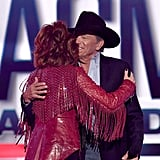 Pictured: Reba McEntire and George Strait
