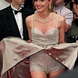 Sharon Stone showed off her studded jumpsuit on the red carpet in 1995.