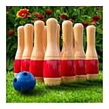 Wooden Lawn Bowling Set