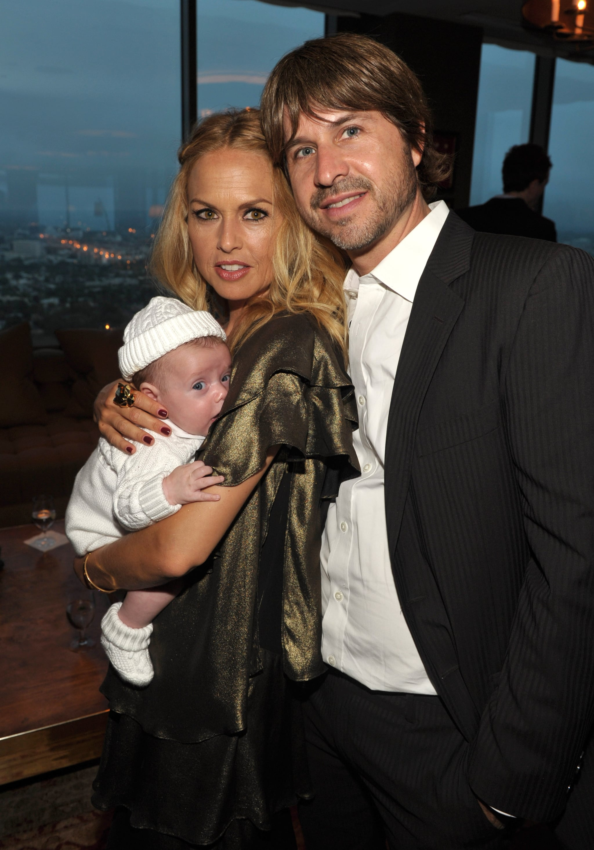 Rachel Zoe and Rodger Berman posed with their baby son Skyler Berman.