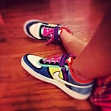 These sneaks made their way into a Zumba class.  Source: kellmybelle