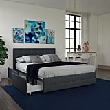 DHP Rose Upholstered Platform Bed with Under Bed Storage