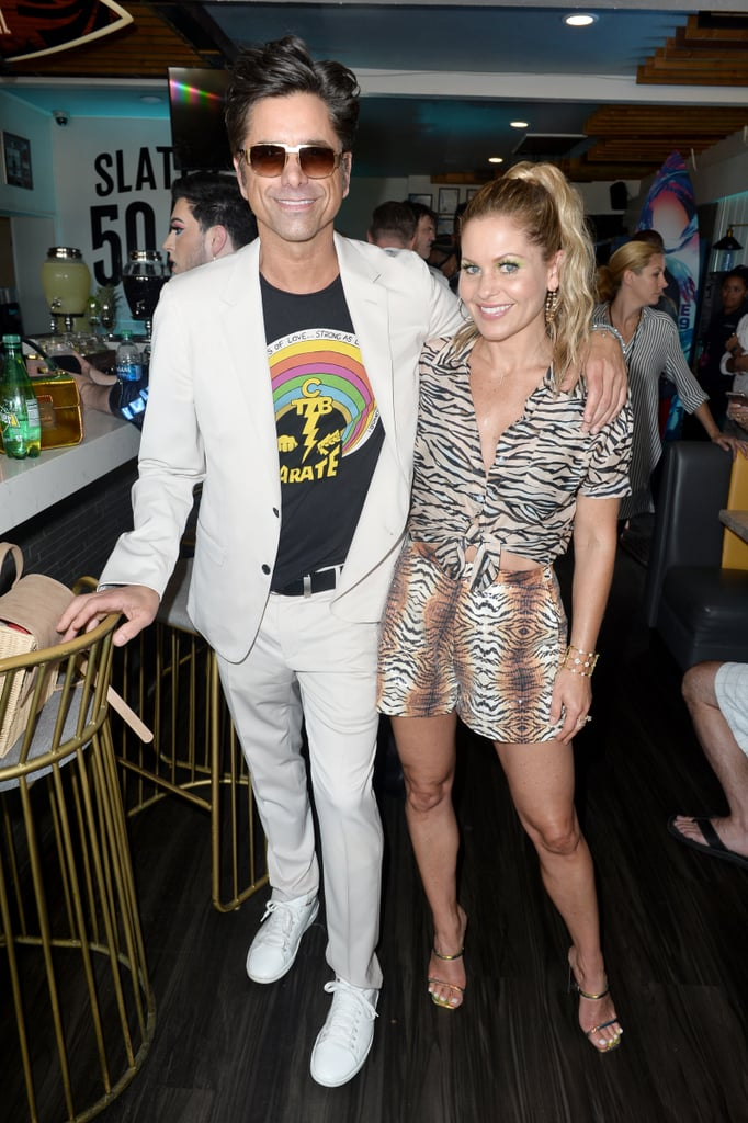 John Stamos and Candace Cameron-Bure at the Teen Choice Awards 2019