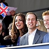 Kate Middleton, Prince William, and Prince Harry seemed to be having a good time at the Diamond Jubilee concert.