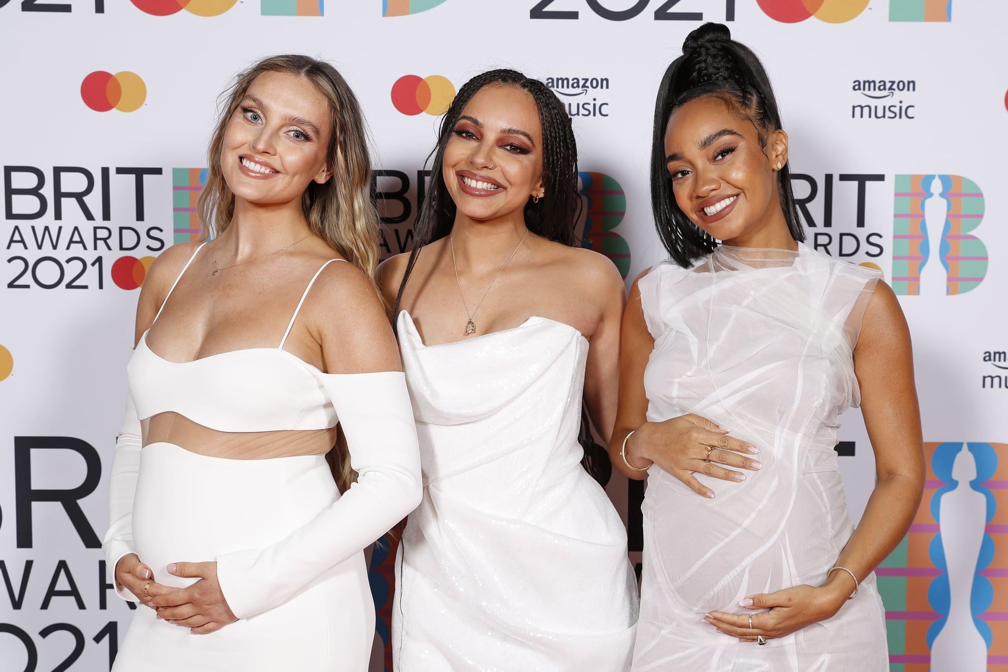 لندن ، انگلستان - 11 مه: پری ادواردز ، جید تیرلوال و لی آن آن پینوک از Little Mix در مراسم جوایز BRIT 2021 در O2 Arena در 11 مه 2021 در لندن ، انگلیس در اتاق رسانه ژست گرفتند.  (عکس توسط JMEnternational / JMEnternational برای جوایز BRIT / گتی ایماژ)