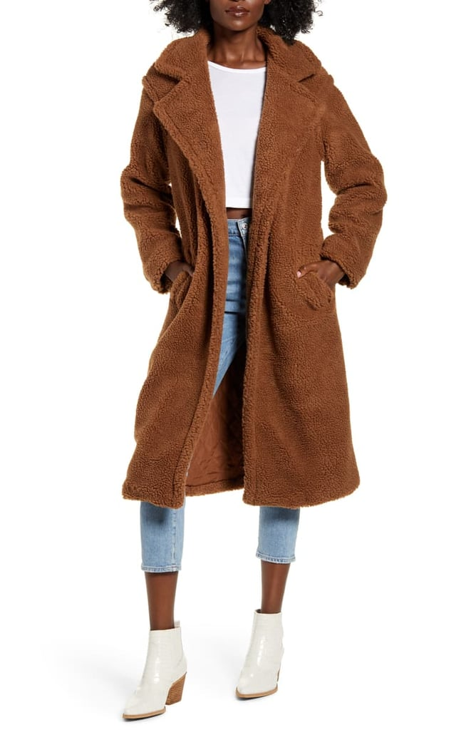 BB Dakota Teddy Faux Fur Longline Coat