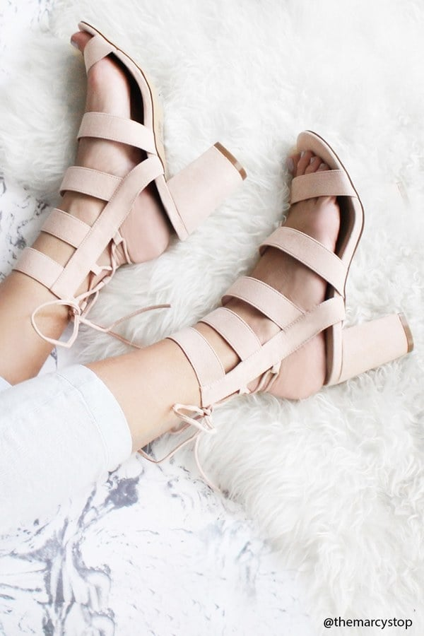c2a8f7725bd Forever 21 Strappy Faux Suede Heels