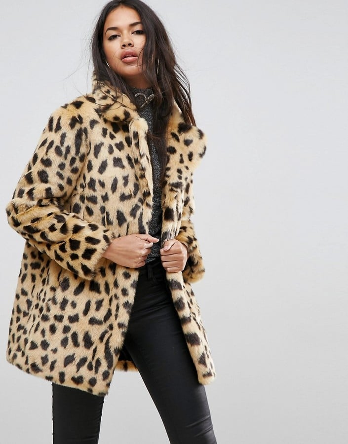 Honestly, there's no better shortcut to looking cool than by throwing on a leopard coat. Part rock and roll, part uptown glam, and totally fierce, a feline-printed coat.