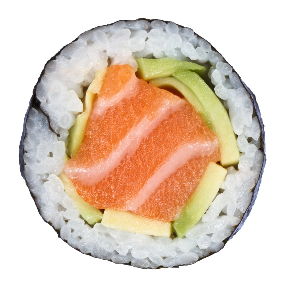 Salmon And Avocado Sushi Roll Calories In Sushi Popsugar Fitness