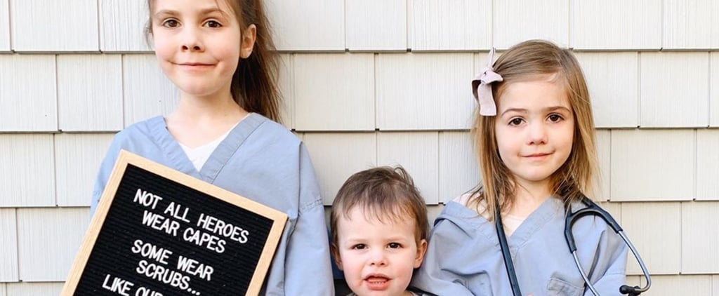 Mom Shares Photo of Kids in Scrubs Amid COVID-19 Outbreak