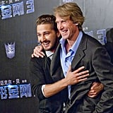 Shia LaBeouf and Michael Bay in China for Transformers: Dark of the Moon.