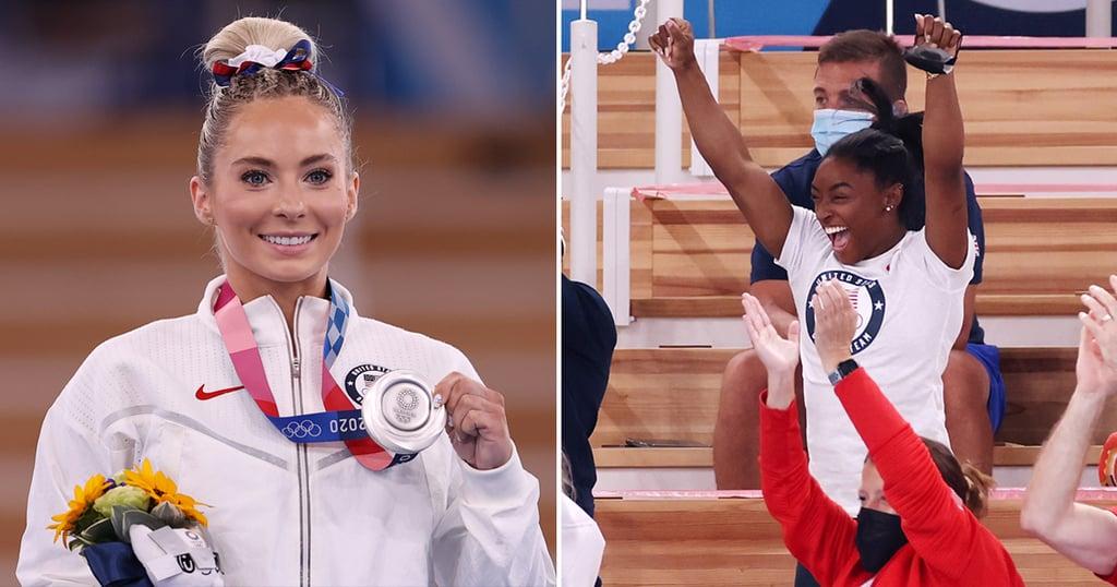 Simone Biles Cheers For MyKayla Skinner at Olympics   Photos