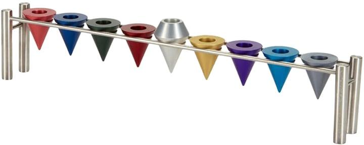 Rainbow Cone Menorah