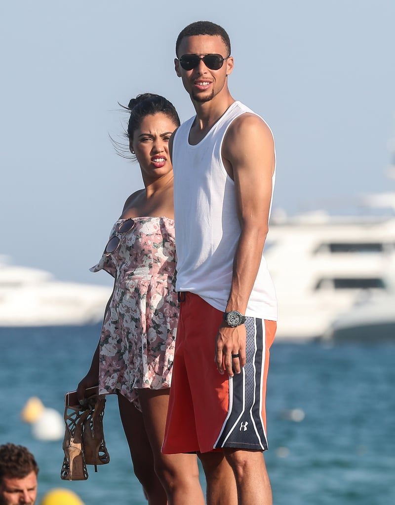 Ayesha and stephen curry in st tropez july 2016 pictures ayesha and stephen curry celebrate their 5 year wedding anniversary on a yacht in st junglespirit Images