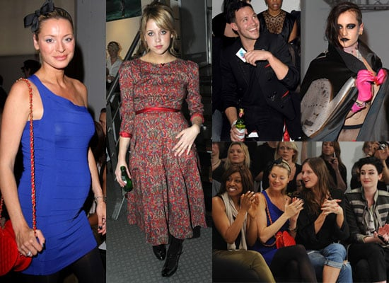 Photos of Peaches Geldof, Will Young, Pregnant Tess Daly and Erin O'Connor at London Fashion Week