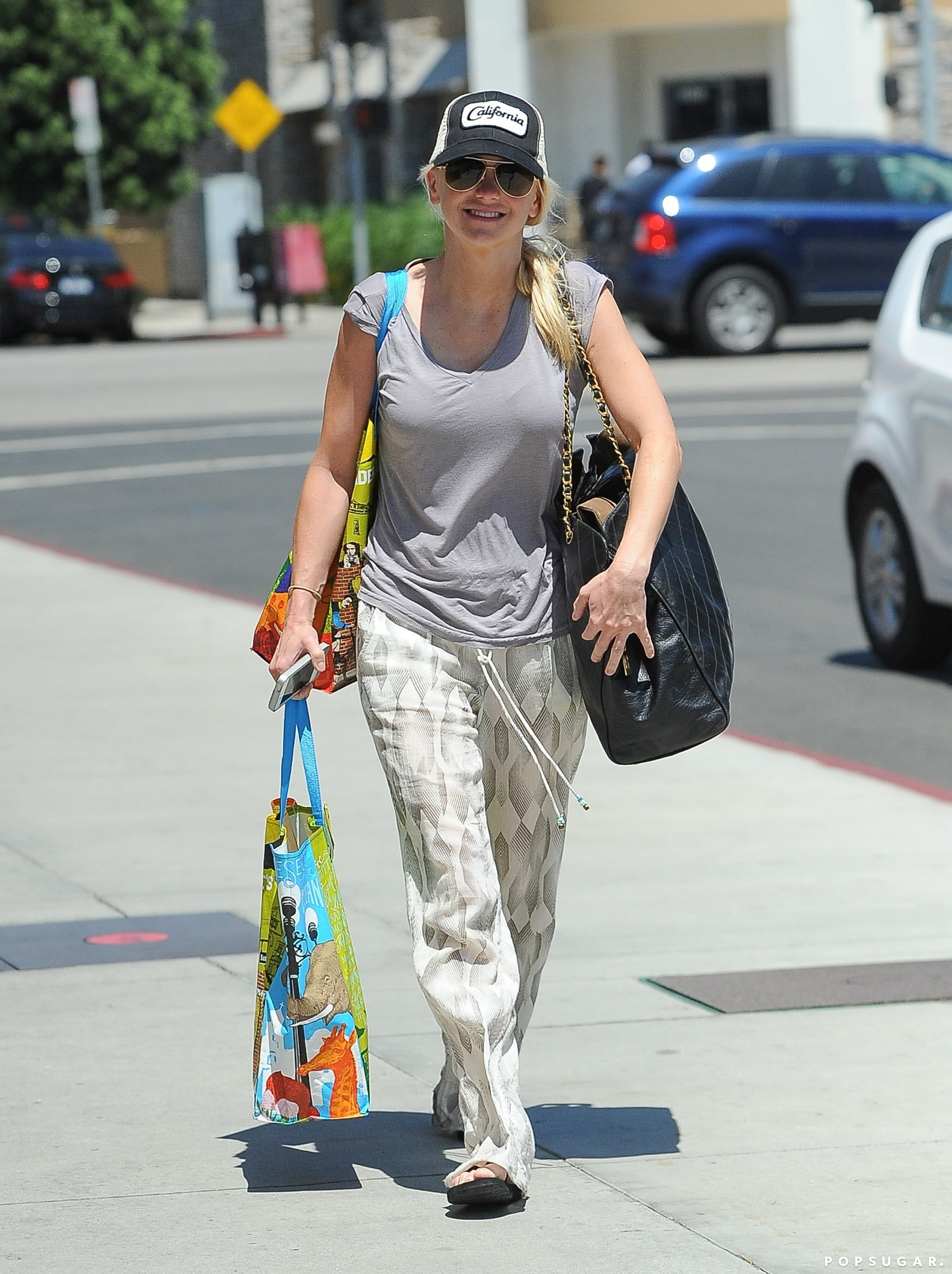 Anna Faris had her hands full in LA on Friday.