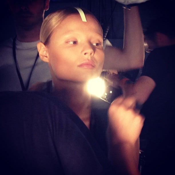 Alexander Wang just might be bringing a new hair accessory to the forefront: tape.