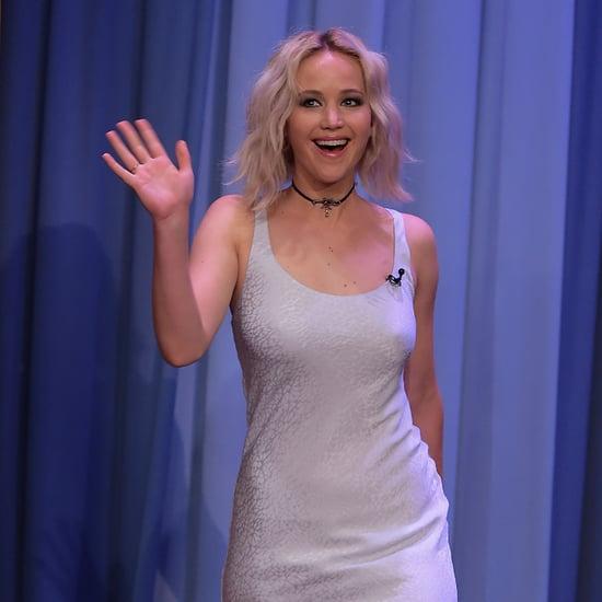 Jennifer Lawrence's Choker on Jimmy Fallon May 2016