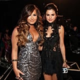 Demi Lovato and Selena Gomez at the 2011 MTV VMAs